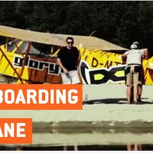 Wakeboarding By Plane