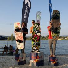 Philipp Turba und Astrid Schabransky gewinnen das Cable Finale des Corona Wakeboard Cups 2013 presented by MO' in Feldkirchen