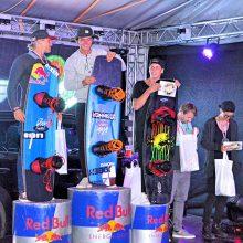 Sieben Stockerlplätze für Österreichs Cable Wakeboarder beim Worldstop in Bratislava.