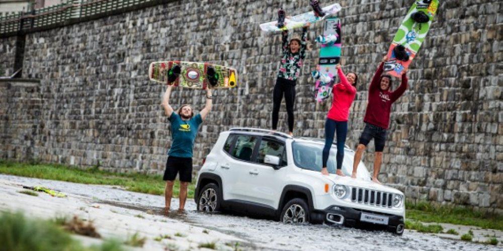 Street Wakeboarding bei derJeep® Mission Austria im Wienfluss Becken