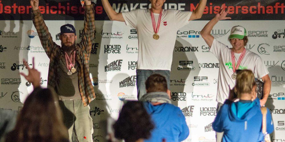 Nadine Antos und Markus Lahmer holen in Kritzendorf die ersten Österreichischen Meistertitel im Wakesurfen