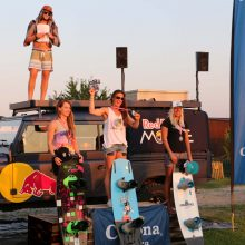 Favoritensiege am Wakepark Planksee:Timo Kapl und Astrid Schabransky gewinnen den ersten Cable Bewerb des Corona Wakeboard Cup 2015